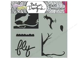 The Crafter's Workshop Template 6 x 6 in. Layered Bird Scene