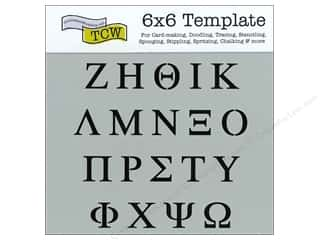 Clearance The Crafters Workshop Template: The Crafter's Template 6 x 6 in. Greek Letters