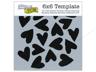 The Crafters Workshop Template 6x6 Spilled Hearts