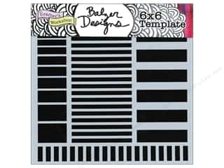The Crafter's Workshop Template 6 x 6 in. Stripes