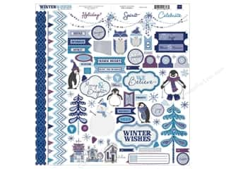 Echo Park Sticker 12x12 Winter Wishes Element (15 set)
