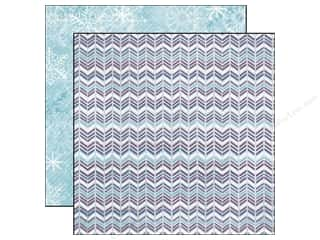 Echo Park Paper 12x12 Winter Wishes Shimer Chevron (25 piece)