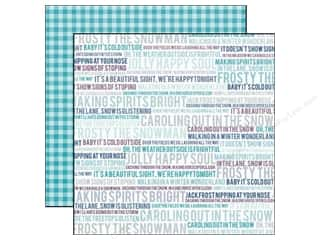 Winter Wonderland Printed Cardstock: Echo Park 12 x 12 in. Paper Winter Wishes Wintery Words (25 piece)