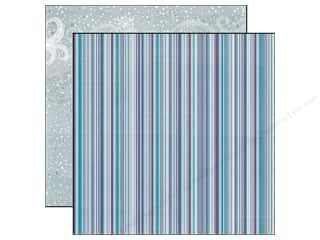 Echo Park Paper 12x12 Winter Wishes Chilly Stripe (25 piece)
