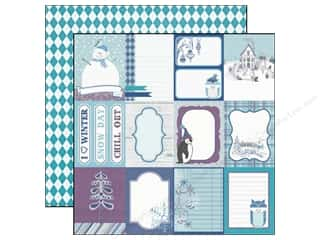 Winter Echo Park 12 x 12 in. Paper: Echo Park 12 x 12 in. Paper Winter Wishes Journaling Cards (25 pieces)