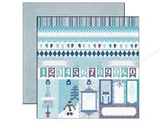 Clearance Blumenthal Favorite Findings: Echo Park 12 x 12 in. Paper Winter Wishes Border Strips (25 piece)