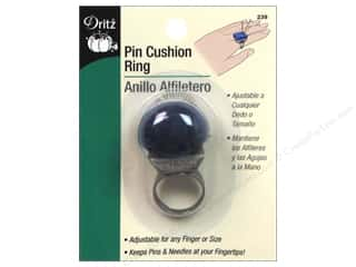 Dritz Pin Cushion Ring Adjustable Antique Silver