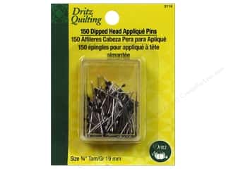 Dritz Pins Quilting Applique Dipped Head Blk 150pc