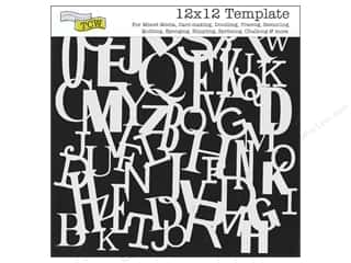 Crafter's Workshop, The ABC & 123: The Crafter's Workshop Template 12 x 12 in. Letters Collage