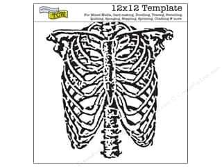 The Crafters Workshop Template 12x12 Ribcage