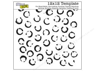 Clearance The Crafters Workshop Template: The Crafter's Template 12 x 12 in. Paint Lids