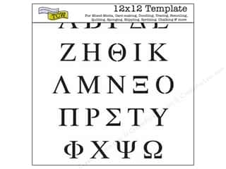 The Crafters Workshop Template 12x12 Greek Letters