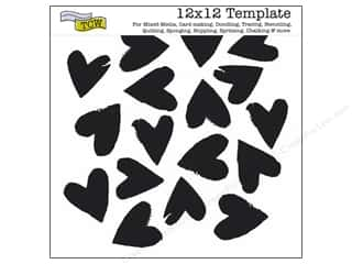 Clearance The Crafters Workshop Template: The Crafter's Template 12 x 12 in. Spilled Hearts