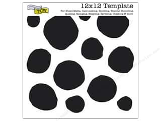 Clearance The Crafters Workshop Template: The Crafter's Template 12 x 12 in. Boulders