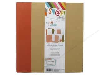 "Chipboard Albums: Simple Stories Album Binder Snap 6""x 8"" Orange"
