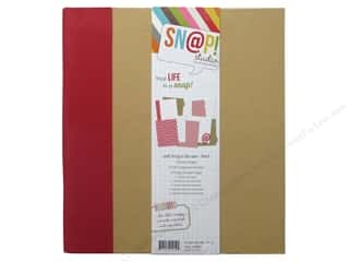 "Simple Stories 6"": Simple Stories SN@P! Binder  6 x 8 in. Red"