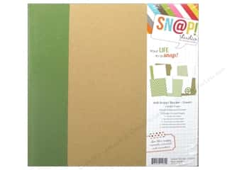 Scrapbook / Photo Albums 2 1/2 in: Simple Stories SN@P! Binder  6 x 8 in. Green