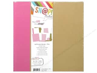"Simple Stories 6"": Simple Stories SN@P! Binder  6 x 8 in. Pink"