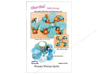 Wonder Woman Quilts: Wonder Woman Quilts Flower Petals Table Setting Pattern