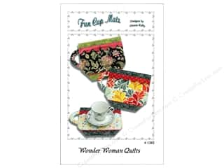 Wonder Woman Quilts: Wonder Woman Quilts Fun Cup Mats Pattern