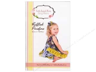 3M: Little Lizard King Ruffled Pinafore Sizes 3M-6 Pattern