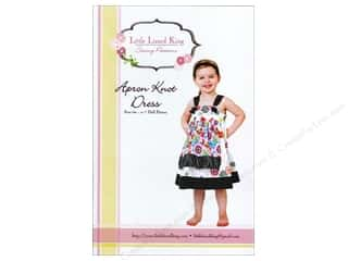 "Books & Patterns 12"": Little Lizard King Apron Knot Dress Sizes 6M-12 Pattern"