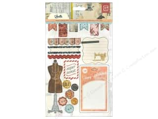 BasicGrey Sticker Chipboard Lucille