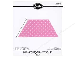 Sizzix Bigz Die Half Hexagon 2 1/4 in.