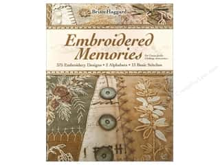 "Embroidery 10"": C&T Publishing Embroidered Memories Book by Brian Haggard"