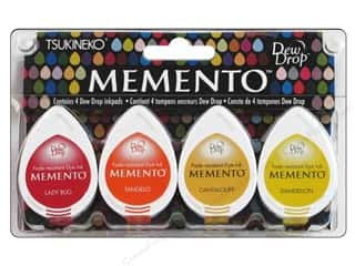 Summer Camp $2 - $4: Tsukineko Memento Dye Ink Dew Drop Stamp Pad Set of 4 Camp Fire