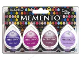 Tsukineko Memento Ink DewDrp Set/4 Juicy Purples
