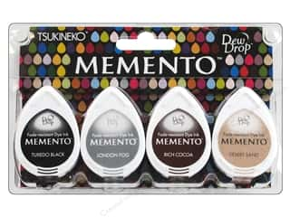 Tsukineko Memento Ink DewDrp Set/4 Stone Mountain