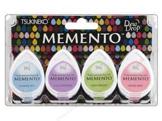 Summer New: Tsukineko Memento Dye Ink Dew Drop Stamp Pad Set of 4 Oh Baby