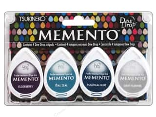 Plastic Funnels: Tsukineko Memento Dye Ink Dew Drop Stamp Pad Set of 4 Dolphin Play