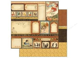 Graphic 45 Back To School: Graphic 45 Paper 12x12 Place In Time Cut Apart September (25 pieces)
