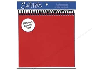 Paper Accents $6 - $10: Doodle Pad by Paper Accents 6 x 6 in. Red