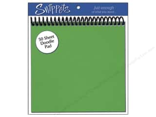 Paper Accents $6 - $10: Doodle Pad by Paper Accents 6 x 6 in. Green (3 pads)
