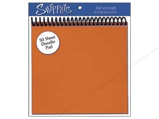 Paper Accents Pad Snippets Doodle 6x6 50 Sht Orang (3 pads)