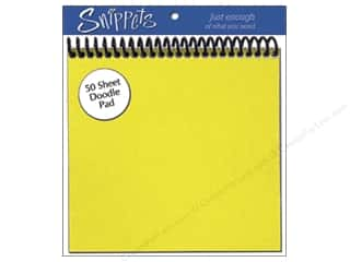 Paper Accents $6 - $10: Doodle Pad by Paper Accents 6 x 6 in. Yellow (3 pads)