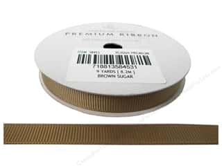 "American Crafts Ribbon Grosgrain 3/8"" BrnSugar 9yd"