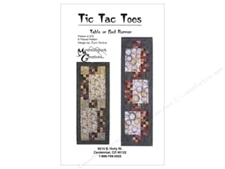 Mountainpeek Creations Fat Quarter / Jelly Roll / Charm / Cake Patterns: Mountainpeek Creations Tic Tac Toes Table Runner Pattern