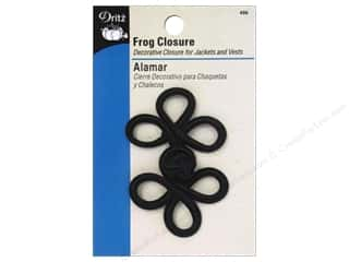 Frogs Fasteners: Frog Closure by Dritz 3 Loop 3 in. Black