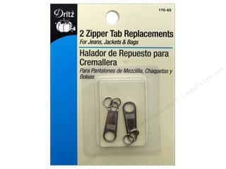Dritz Zipper Repair Tab Replacements Nickel 2pc