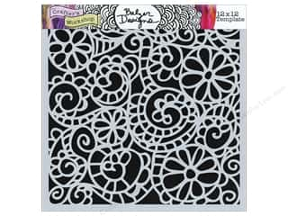 The Crafter's Workshop Template 12 x 12 in. Swirly Garden