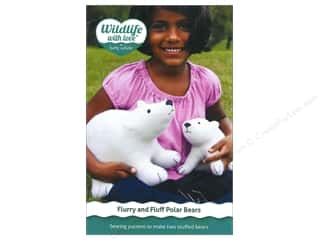 "Wool 11"": Wildlife with Love by Betz White Flurry And Fluff Polar Bears Pattern"