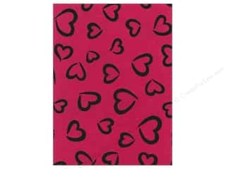 Hearts Basic Components: Kunin Felt 9 x 12 in. Fancifelt Princess Heart Shock Pink (24 pieces)