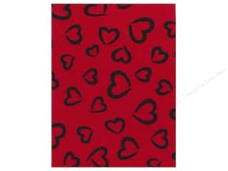 Fancifelt: Kunin Felt 9x12&quot; Fancifelt Princess Heart Red (24 piece)