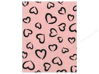 Hearts Basic Components: Kunin Felt 9 x 12 in. Fancifelt Princess Heart Baby Pink (24 pieces)