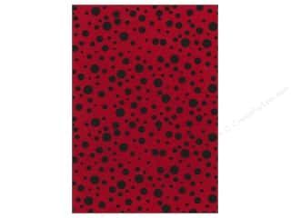 Fancifelt: Kunin Felt 9x12&quot; Fancifelt Random Dots Red (24 piece)