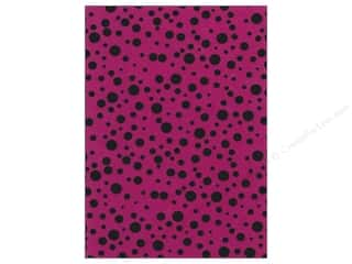 Fancifelt: Kunin Felt 9x12&quot; Fancifelt Random Dots Fuchsia (24 piece)